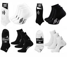 UMBRO SOCKEN Quarter Sneaker Füßlinge Kurzsocken 3, 6, 9, 12, 15 Paar