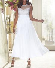 Ashro Kaleceea Beaded Gown Dress White Formal Cruise Ball 12 14 16 16W 18W PLUS