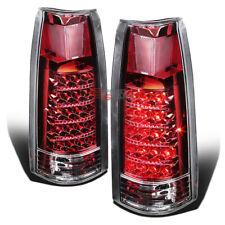 FOR CHEVY C/K C10 1500/2500/3500 YUKON/TAHOE/BLAZER CHROME RED LED TAIL LIGHTS