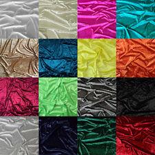 "Premium Crushed Velvet Fabric Craft Dress Stretch Material 59"" Wide - Per Metre"