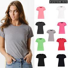 KK754 Kustom Kit Womens Superwash Fashion Fit T-Shirt Crew Neck T-Shirt