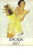 """PUBLICITE ADVERTISING 1995   ESCADA """"  j'adore le parfum ACTE 2 """""""