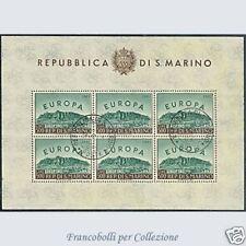 1961 San Marino Foglietto Europa Unita n. 23 Usato