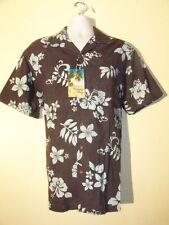 Milano Bay Dark Gray Blue Men's Hawaiian Shirt NEW NWT