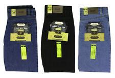 NUOVA linea uomo Straight Fit Jeans Regular Nero Heavy Duty Hard Jeans Pantaloni Pants