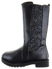 Girls BLACK Glitter Country Riding Long Boots Size UK 11 EU 29 - UK 4 EU 37