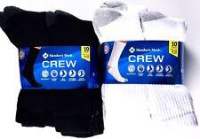 MEMBERS MARK Comfort Men Athletic Socks CREW 30 Pair Size 6-12 Cotton BLACK