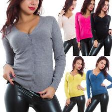 Cardigan maglioncino donna scollo V aderente pullover caldo sexy maglione Y922A