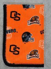CRIB/NAP/TODDLER FLEECE BLANKET- NCAA COLLEGE FOOTBALL - OREGON STATE BEAVERS