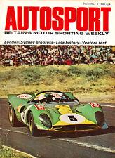 Autosport 6 Dec 1968 Lola Cars 1172 to T162, Fiat 124 &125 Specials, Hulme's M7A