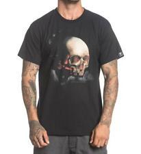 Sullen Joshua Carlton Mens Black T Shirt Tattoo Skull Urban Streetwear