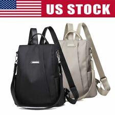 Women Lady Backpack School Bag Purse Anti-Theft Waterproof Oxford Cloth Rucksack