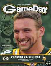 Minnesota Vikings Green Bay Packers Program 11/1/2009...Aaron Kampman
