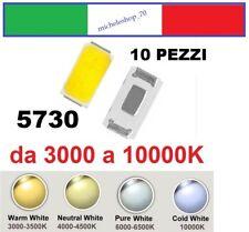chip led SMD 5730 alta luminosità bianco da 2850 a 10000K confezioni da 10 pezzi
