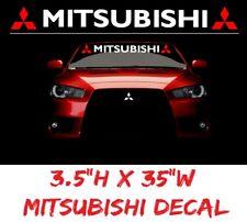 MITSUBISHI Windshield Decal vinyl sticker custom graphic logo EVO 8 X eclipse
