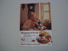 advertising Pubblicità 1980 NUTELLA FERRERO