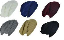 Knit Crinkle Fold Slouchy Winter Warm Beanie Hat Cap For Men Women