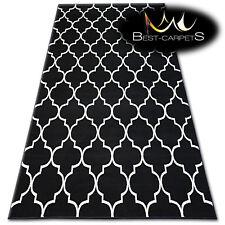 "MODERN DESIGNS & CHEAP BCF RUGS black TRELLIS ""BASE"" LARGE SIZE Best-Carpets"