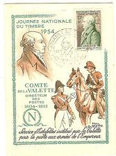 CARTE POSTALE JOURNEE DU TIMBRE VIEUX CHARMONT 1954