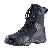 BLACK WATERPROOF TACTICAL BOOT SECURITY POLICE MILITARY ARMY MEN LADIES 4-15