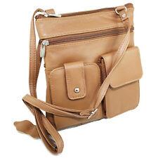 Genuine Leather Mini Purse Organizer Crossbody Shoulder Travel Bag More Colors