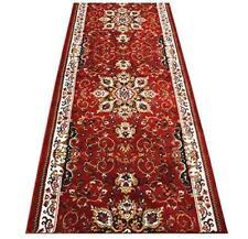 Custom Size Persian Traditional Oriental Medallion Red Runner Rug 36 Width