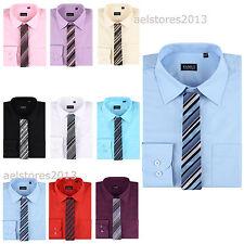 chemise pour enfants garçons Plaine Longue Age manches intelligente 1-15années