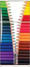 Sticker frigo électroménager déco cuisine Crayons de couleurs 70x170cm réf 670