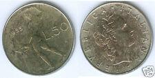 Italien  50 Lire 1955  vorzüglich bis stempelglanz