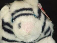 NEW CHEVY BLUE-EYED ROUND PUFFKINS ALBINO WHITE TIGER CUB PLUSH STUFFED ANIMAL