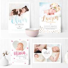 Premium personnalisé NEUF bébé Photo carte de remerciements garçon fille