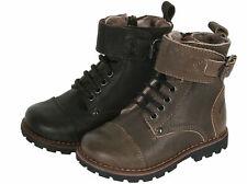 Momino 6407M Kinder Boots Stiefeletten Leder Lammfell Unisex Gr. 22-31 Neu