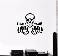 Wand Aufkleber Fight Club Fighting Skull Bone Skelett Boxen Vinyl Aufkleber (ed736)