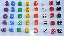 Ensembles de 5 dés pour jouer aux dés de jeux-six faces Spot dés-Opaque D6 RPG