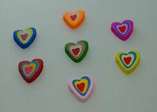 3 Perles Coeur en Bois Couleurs disponible, Pour bracelet et decoration bijoux