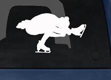 Sport Silhouette - Female Ice Figure Skating Version 2- Car Tablet Vinyl Decal
