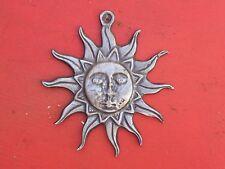 Large Sun Tin/Silver Milagro Ex Voto - Nice!