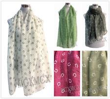 Pretty Scarf Good Lucky Horseshoe Print Pattern Scarves Shawl Wrap Neck Cowl