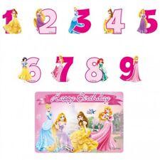 Disney Principessa Candela di compleanno NUMERI FESTA BAMBINI