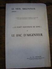 foret aquatique de seine et la bac d'argenteuil réthoré