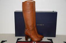 Ralph Lauren Collection Purple Label Hazel Leather High Heel Tall Riding Boots