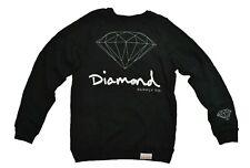 Diamond Supply Co. OG SCRIPT Black Charcoal Grey Crewneck Men's Sweatshirt