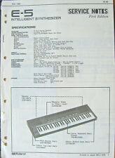 Roland Service Manual Original Book Pick One E-5 E-10 E-12 E-15 E-20 Synthesizer