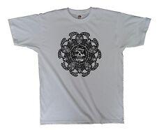 Skull Mandala gothic yoga mens white t shirt