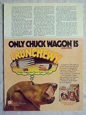 1978 Magazine Advertisement Ad Page For Purina Chuck Wagon Bag Dog Food