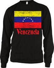 Venezuela Flag Distressed Old Font Venezuelan Country From Ven Ve Men's Thermal