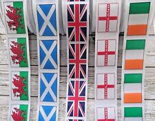 Union Jack ,England,Welsh Dragon,Scotland,Ireland Flag Ribbon - 35mm  Berisfords