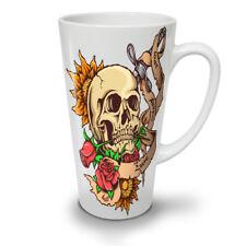 Dead Head Rose Knife Stab NEW White Tea Coffee Latte Mug 12 17 oz | Wellcoda