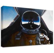 Sr-71 piloto de pruebas de lona | Gran Pared Art | Vuelo Piloto Estilo plano Jet Visera