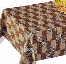 PVC Table Nappe natté Patchwork Effet Marron Latte Beige essuyez couvercle